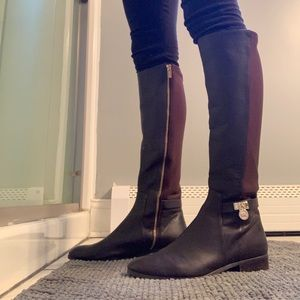 Michael Kors Ryan Leather Knee High Boots
